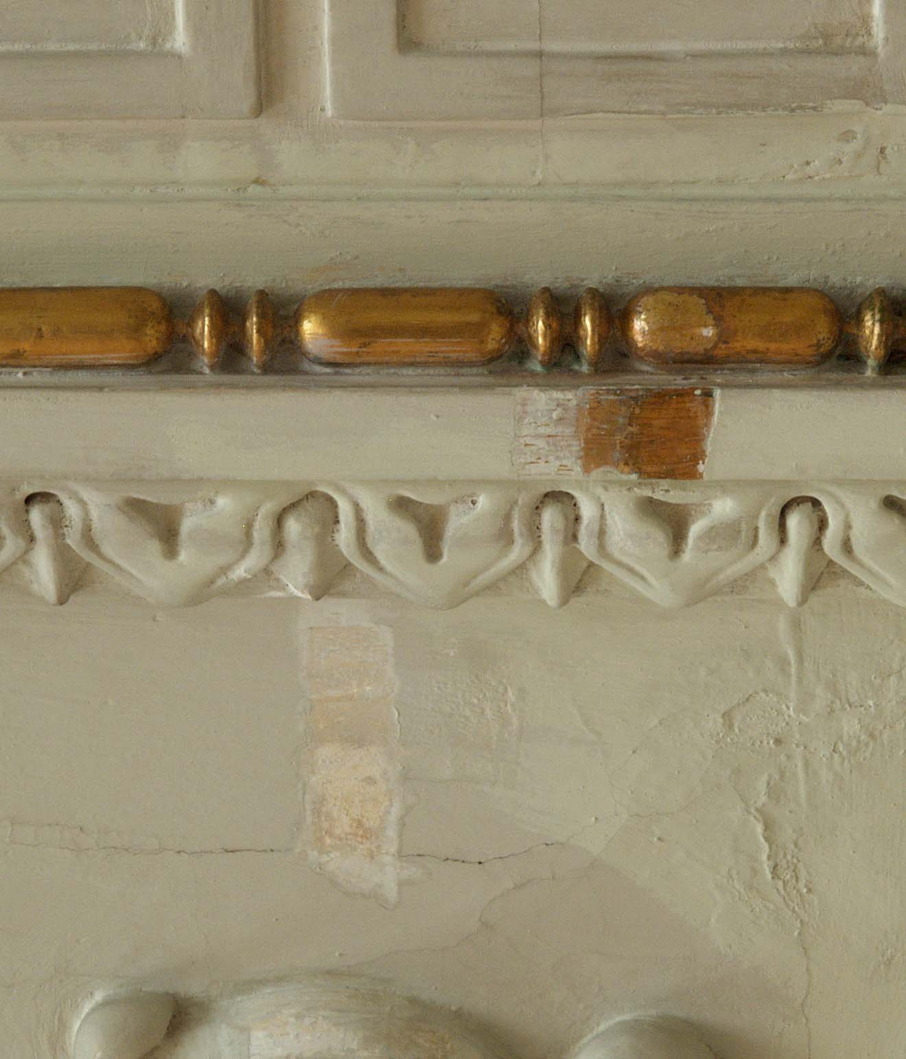 These Are Small Samples Of Exposed Paint From The Ceiling In Great Hall Palace