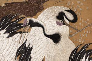 Japan i Kongehuset, silkeskærm fra 1800-tallet, detalje 3