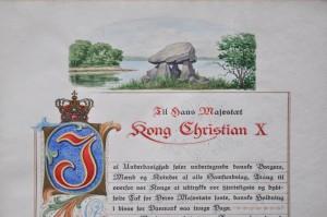 Underskriftindsamling fra ca. 15000 danskere til Christian 10.s 71 års fødselsdag 26. september 1941