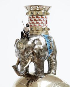 Nærbillede af elefantordenens elefant fra hanken på præsentations-kovshen. Foto: Iben Kaufmann